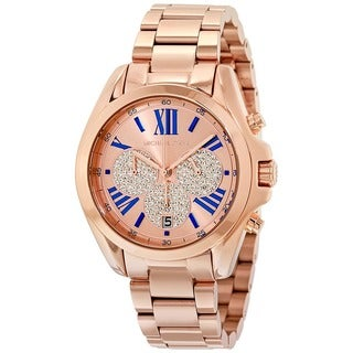 Michael Kors Women's MK6321 Bradshaw Chronograph Rose-Tone Gold Dial Rose-Tone Gold Stainless Steel Bracelet Watch