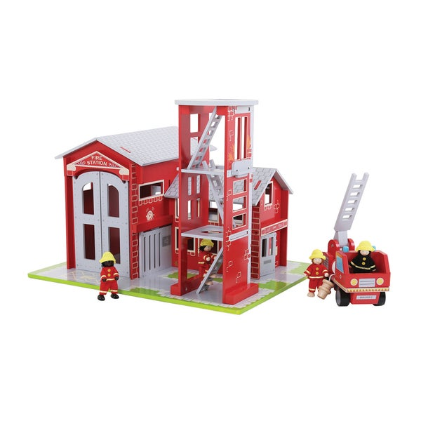 Shop Bigjigs Toys Fire Station Free Shipping Today