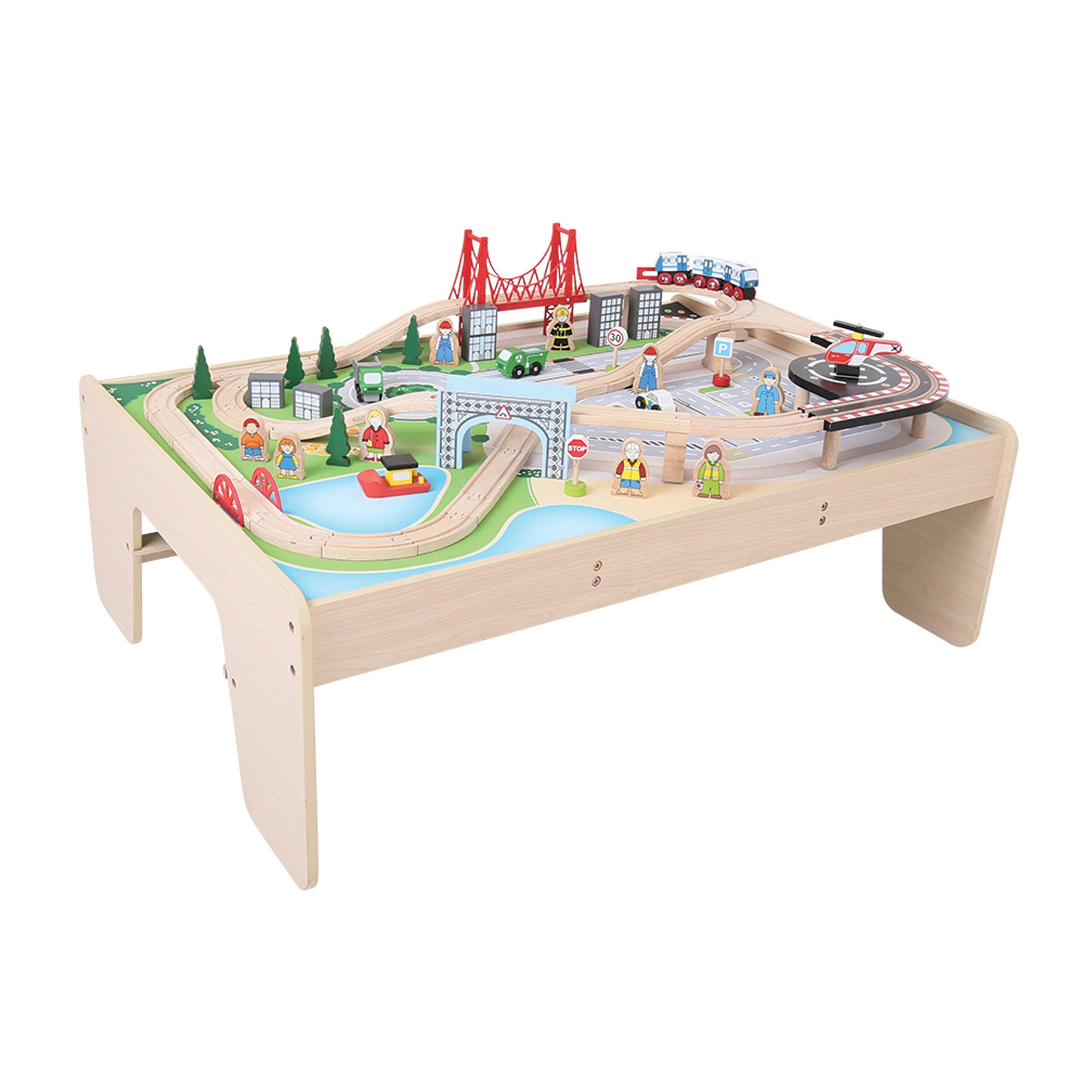 Bigjigs Toys City Train Set And Table