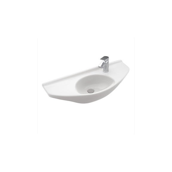 Toto Wall Mount Vitreous China Bathroom Sink Lt650g 01 Cotton White