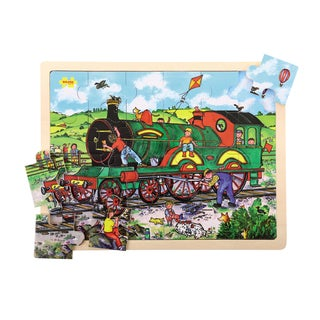 Bigjigs Toys 24 Piece Tray Train Puzzle