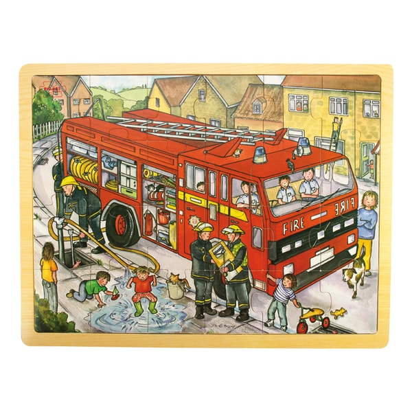 Bigjigs Toys 24 Piece Tray Fire Engine Puzzle