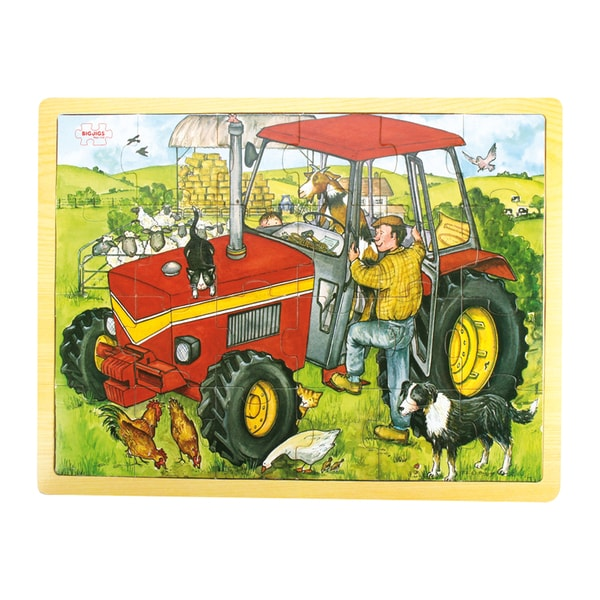 Bigjigs Toys 24 Piece Tray Tractor Puzzle