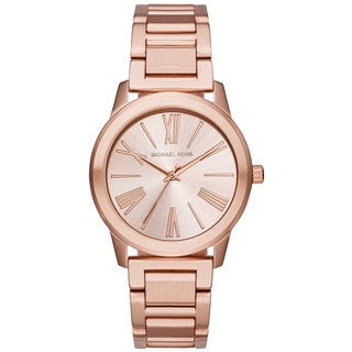 Michael Kors Women's MK3491 Hartman Rose-Tone Dial Rose-Tone Gold Stainless Steel Bracelet Watch