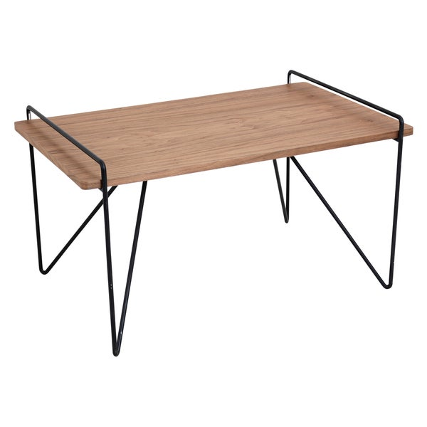 Modern Wood Coffee Table: Loft Mid Century Modern Walnut Wood Coffee Table