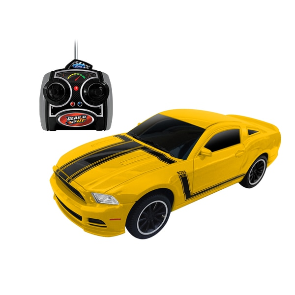 1:24 Scale Ford Mustang Boss 302 RC Gear'd Up Yellow