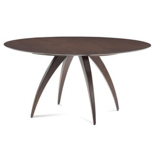 Saloom Ella 54 Java-Stained Maple Round Strata Texture Top Dining Table