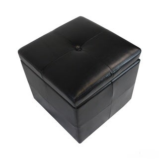 Classic Tufted Storage Ottoman with Hydraulic Hinges