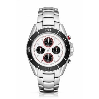Michael Kors Men's MK8476 JetMaster Chronograph White Dial Silver-Tone Stainless Steel Bracelet Watch