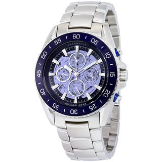 Michael Kors Men's MK9024 JetMaster Automatic Multi-Function Skeleton Dial Stainless Steel Bracelet Watch