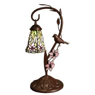 Maliena 1-light Bird-style 21-inch Tiffany-style Table Lamp