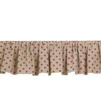 Raspberry Dot Bed Skirt