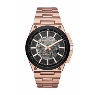 Michael Kors Men's MK9022 Wilder Automatic Skeleton Dial Rose-Tone Gold Stainless Steel Bracelet Watch