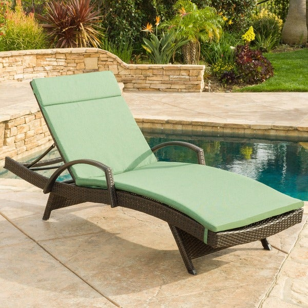 Christopher knight home toscana outdoor wicker armed for Big and tall chaise lounge