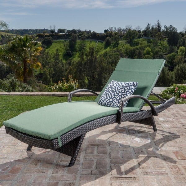 Shop Toscana Outdoor Wicker Armed Chaise Lounge Chair With
