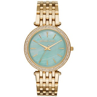 Michael Kors Women's MK3498 Darci Green Mother Of Pearl Dial Gold-Tone Stainless Steel Bracelet Watch