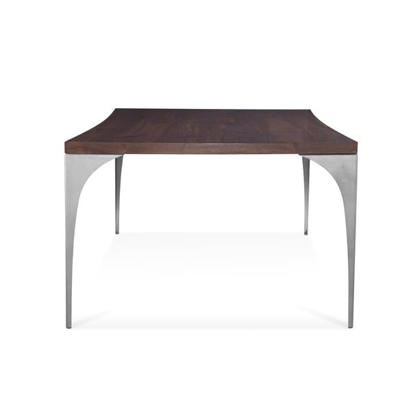Saloom grace 36 x 60 inch concave black walnut dining for Dining room tables 120 inches