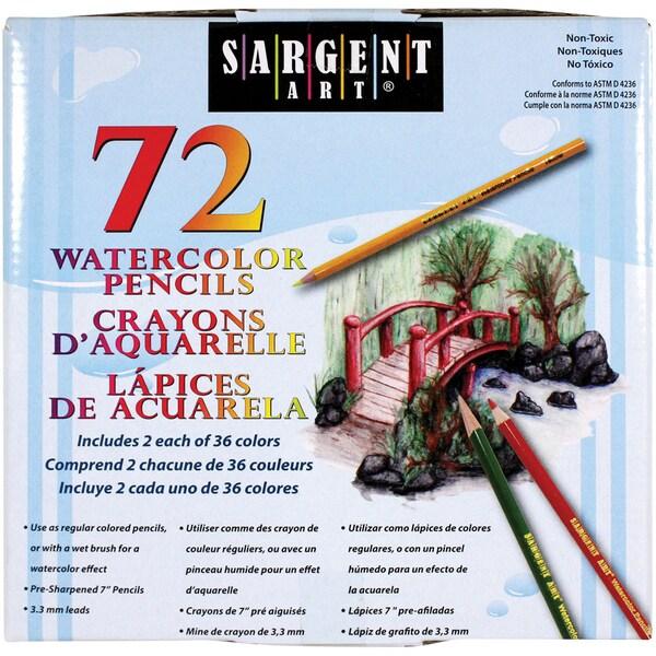 Sargent Art 72 Count Watercolor Number 7 Pencils