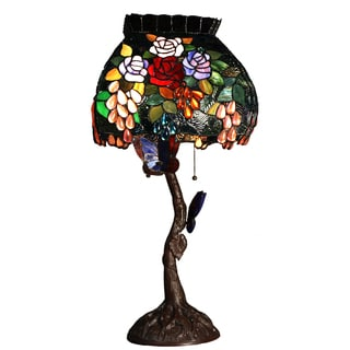 Bambi 2-light Butterfly 30-inch Tiffany-style Table Lamp