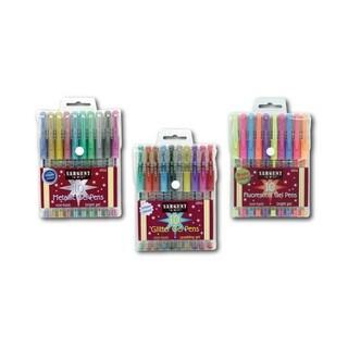 Glitter, Fluorescent and Metallic Gel Pen Set