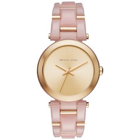Michael Kors Women's Delray Gold Dial Two-Tone Bracelet Watch
