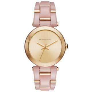 Michael Kors Women's MK4316 Delray Gold Dial Two-Tone Bracelet Watch