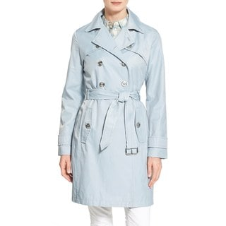 Laundry by Shelli Segal Women's Light Blue Trench Coat