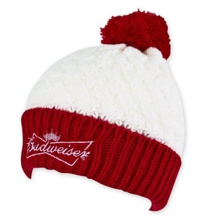 Budweiser White And Red Women's Beanie
