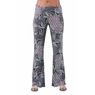 24/7 Comfort Apparel Women's Geometric Paisley Printed Pant https://ak1.ostkcdn.com/images/products/11519882/P18469298.jpg?impolicy=medium