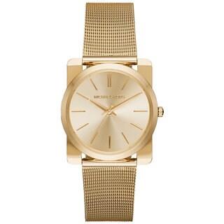 Michael Kors Women's MK3496 Kempton Gold Dial Gold-Tone Stainless Steel Mesh Bracelet Watch