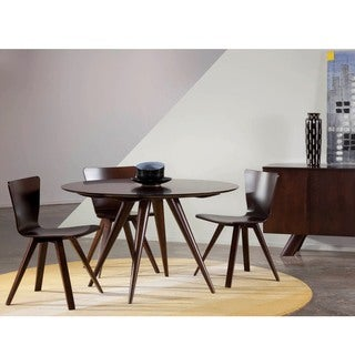 Saloom Iris 48 Round Maple Smooth Top Dining Table in Java Finish