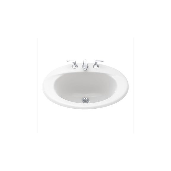 Shop Toto Supreme Drop In Vitreous China Bathroom Sink LT511G#01 ...