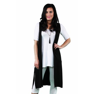 24/7 Comfort Apparel Women's Sleeveless Long Shrug (More options available)