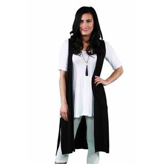24/7 Comfort Apparel Women's Sleeveless Long Shrug (4 options available)