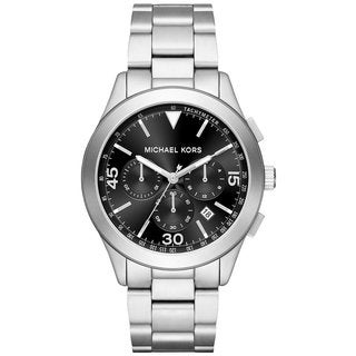 Michael Kors Men's MK8469 Gareth Chronograph Black Dial Silver-Tone Stainless Steel Bracelet Watch