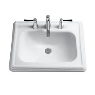 Toto Promenade Drop In/Self Rimming Vitreous China Bathroom Sink LT531.8#01 Cotton White