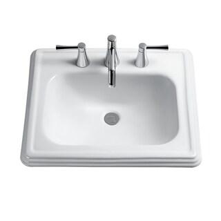 Toto Promenade Drop In Vitreous China Bathroom Sink LT531.8#01 Cotton White