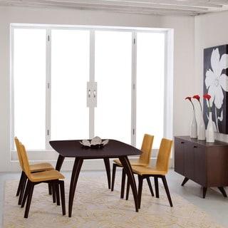 Saloom Kira 42 x 60 Rectangular Maple Smooth Top Dining Table in Java Finish