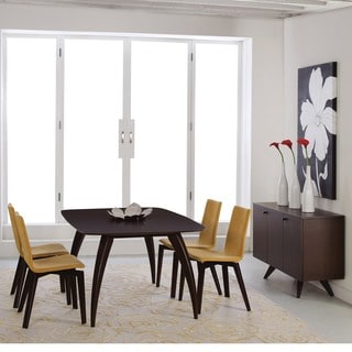 Saloom Kira 42 x 72 Rectangular Extension Maple Smooth Top Dining Table in Java Finish