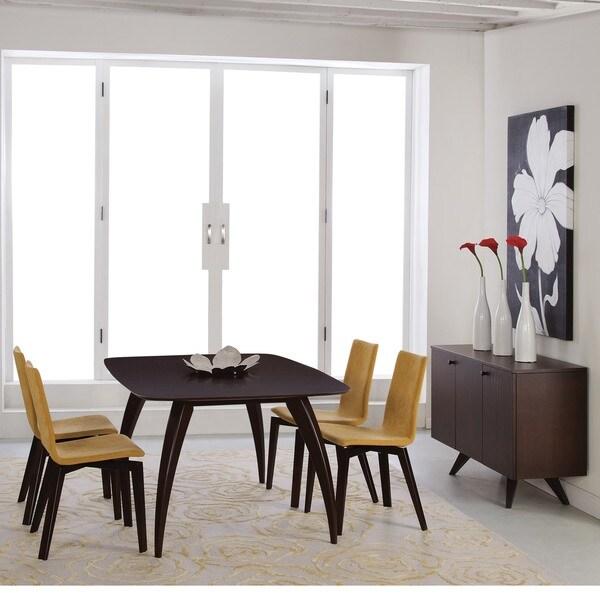 Saloom Kira 42 X 72 Rectangular Extension Maple Smooth Top Custom Dining Table In Java Finish