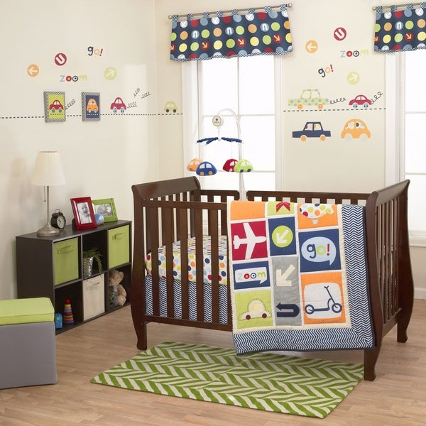 Belle boysworld 3 piece crib bedding set free shipping for World crib bedding