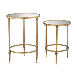 Dimond Home Alcazar Accent Tables In Antique Gold And Mirror