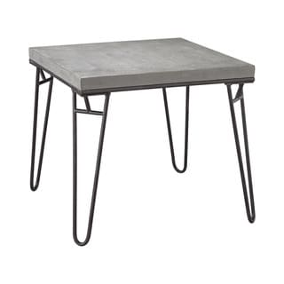 Dimond Home Montparnasse Accent Table In Aged Iron And Concrete