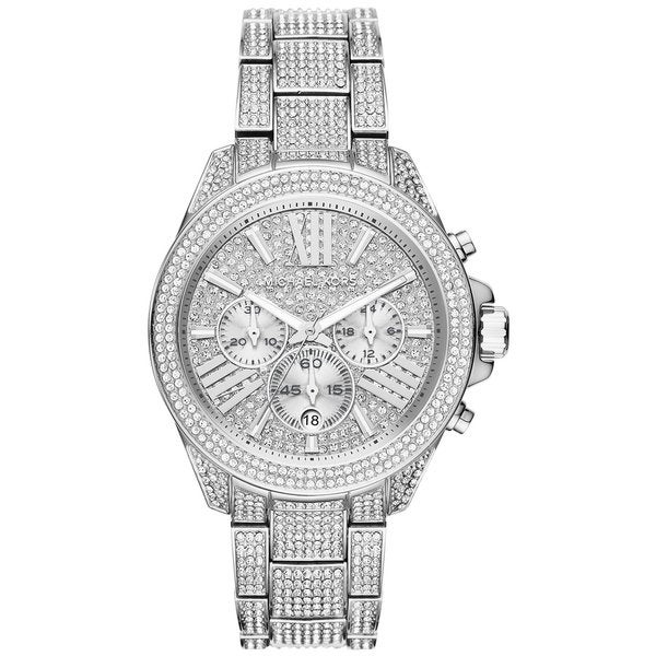 Michael Kors Women's MK6317 Wren Chronograph Pave Crystal Silver-tone Stainless Steel Watch