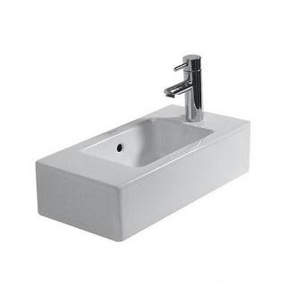 Duravit Vero Above Counter/Vessel Porcelain 9.87 19.69 Bathroom Sink 07035000081 White Alpin