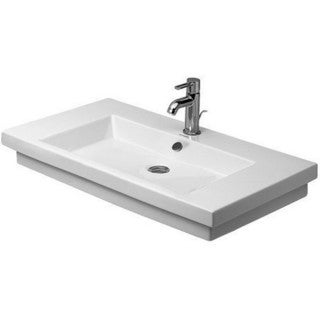 Duravit 2nd Floor Drop In/Self Rimming Porcelain Bathroom Sink 04918000001 White Alpin