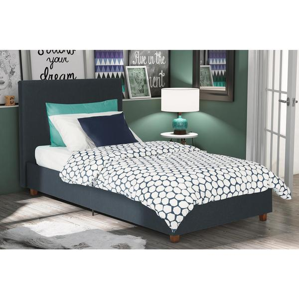 DHP Alexander Dark Blue Upholstered Twin Bed   Free Shipping Today    Overstock com   18469419. DHP Alexander Dark Blue Upholstered Twin Bed   Free Shipping Today