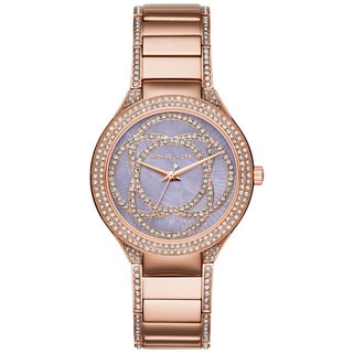 Michael Kors Women's MK3482 Kerry Mother Of Pearl Dial Rose-Tone Gold Stainless Steel Bracelet Watch