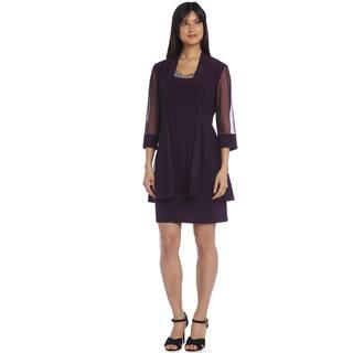 R&M Richards Plum Bead Jacket Dress|https://ak1.ostkcdn.com/images/products/11520046/P18469484.jpg?impolicy=medium
