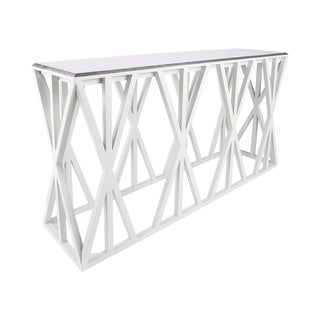 Dimond Home Weft Tressle Console Table, Grain De Bois Cappuccino Foam And Silver Leaf